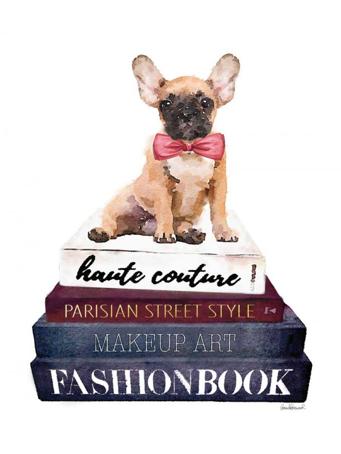 Book Stack Frenchie by Amanda Greenwood