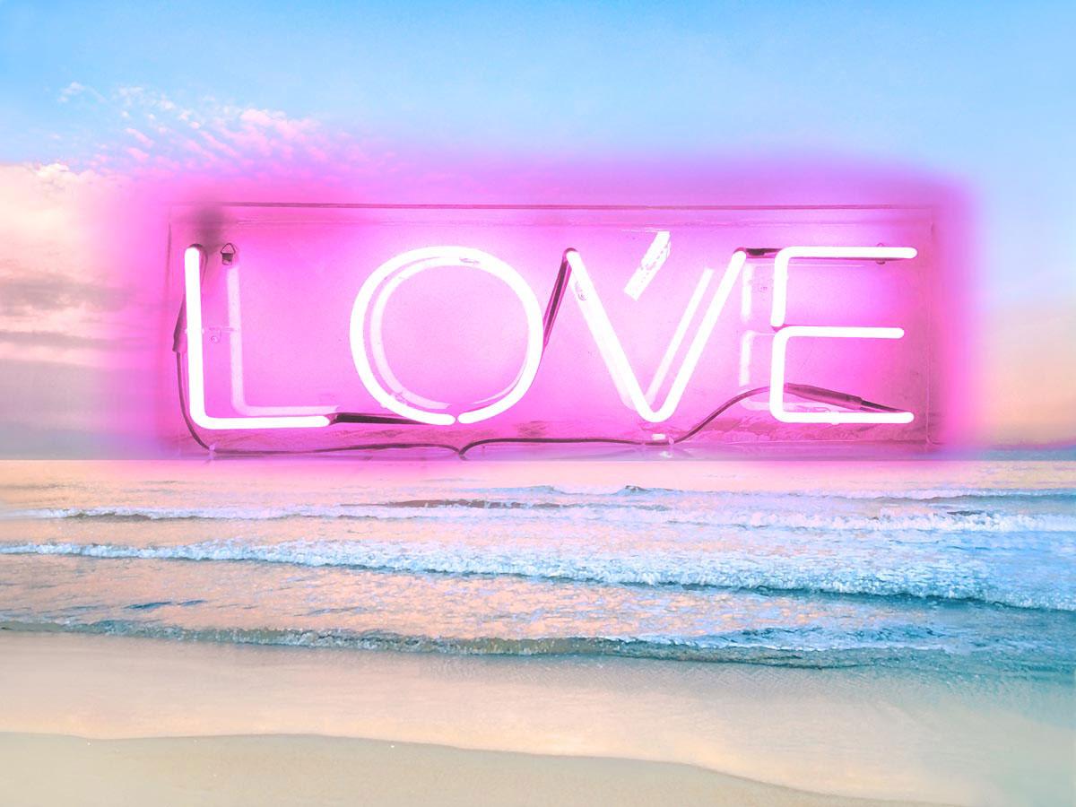 Neon Love Beach PB by Hailey Carr