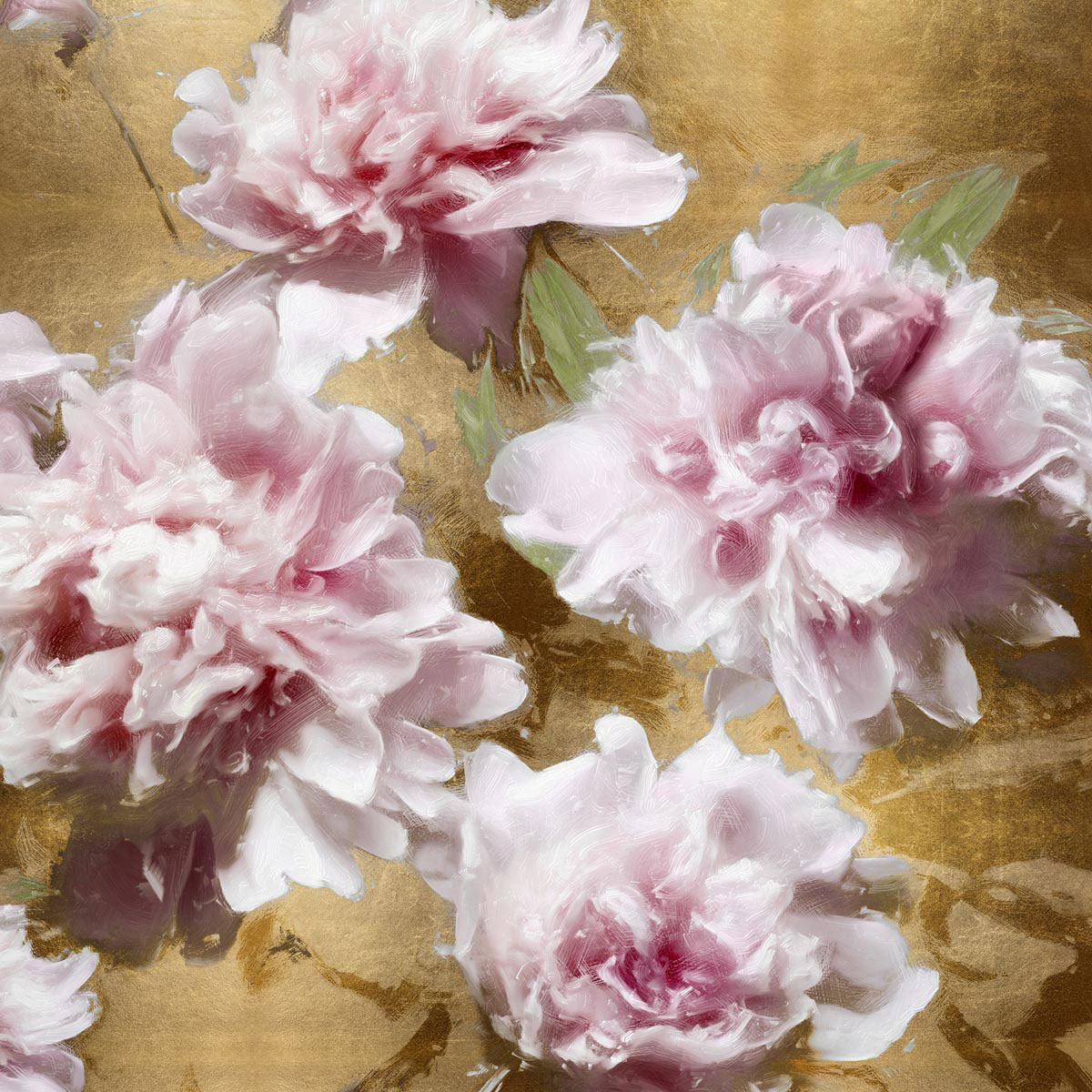 Peonies on Gold I by Shawna Sullivan