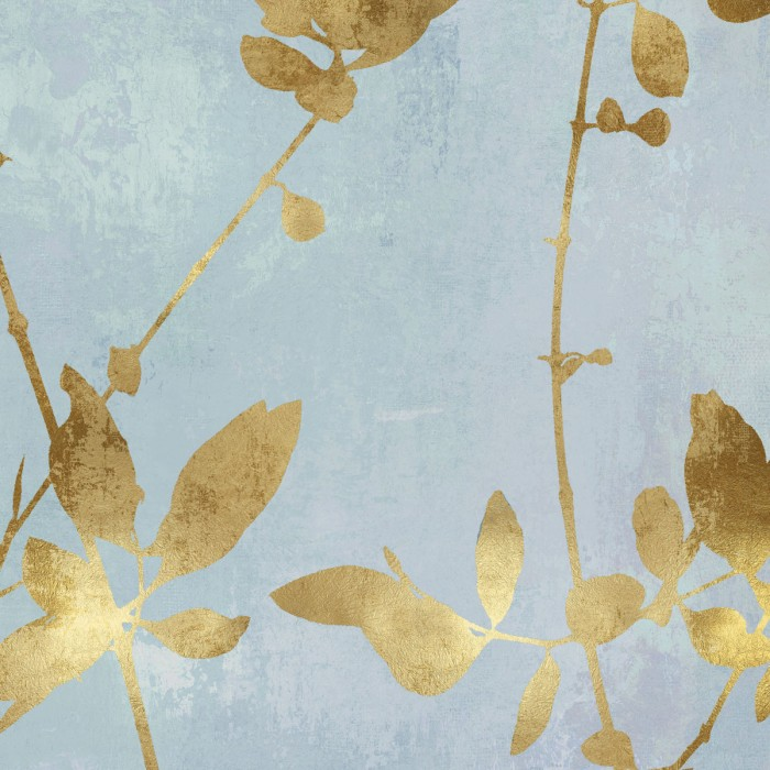 Nature Gold on Blue III by Danielle Carson
