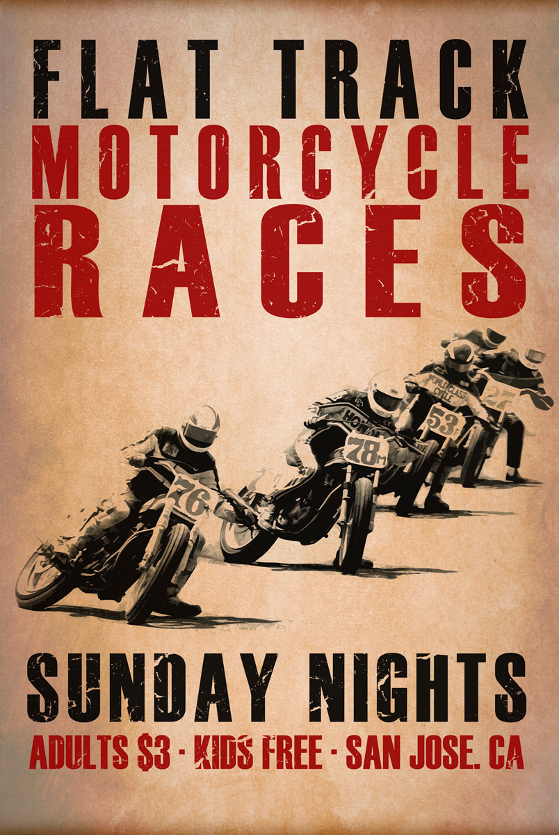 Flat Track Racers by Mark Rogan